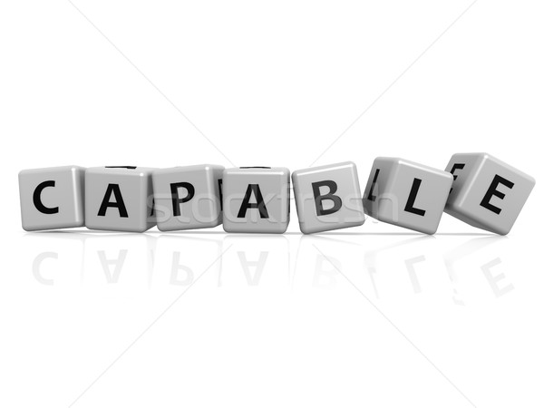 Capable buzzword Stock photo © tang90246