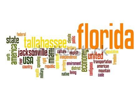 Florida kelime bulutu bulut özgürlük tarih grafik Stok fotoğraf © tang90246
