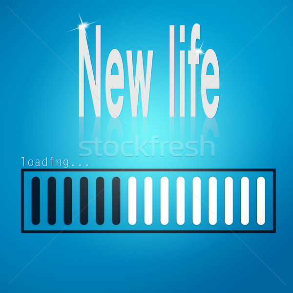 New life blue loading bar Stock photo © tang90246