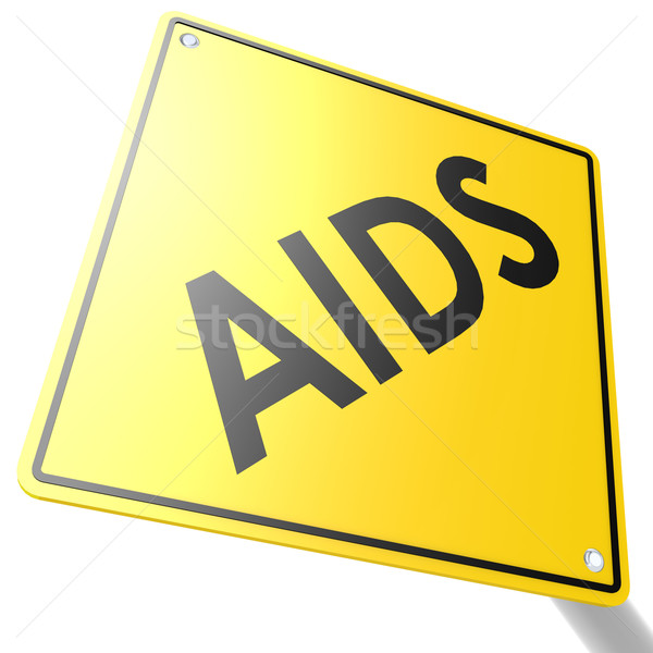 Road sign with AIDS Stock photo © tang90246