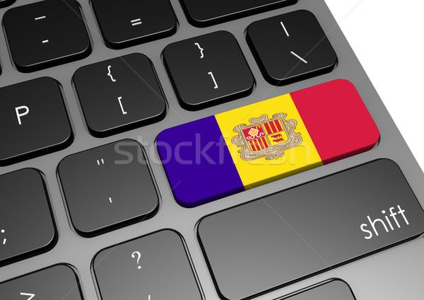 Andorra teclado imagen prestados utilizado Foto stock © tang90246