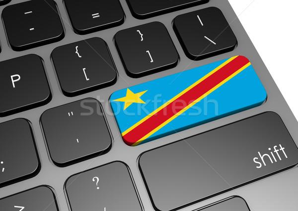 Demokratischen Republik Kongo Tastatur Bild gerendert Stock foto © tang90246