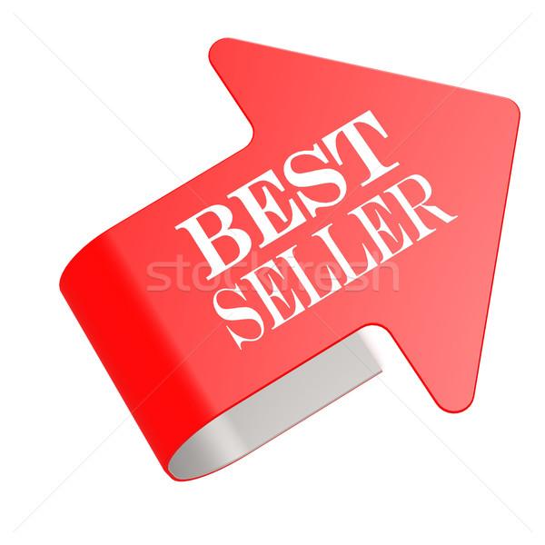 лучший продавец Label знак магазине маркетинга Сток-фото © tang90246