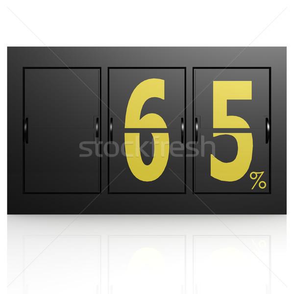 Airport display board 65 percent Stock photo © tang90246
