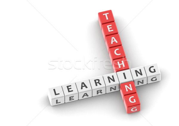 Buzzwords teaching learning Stock photo © tang90246