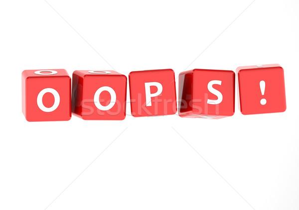 Oops puzzel woord afbeelding gerenderd Stockfoto © tang90246