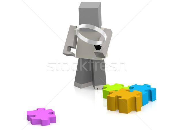 головоломки марионеточного изображение оказанный используемый Сток-фото © tang90246