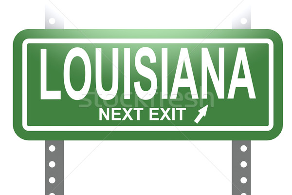 Louisiana green sign board isolated Stock photo © tang90246