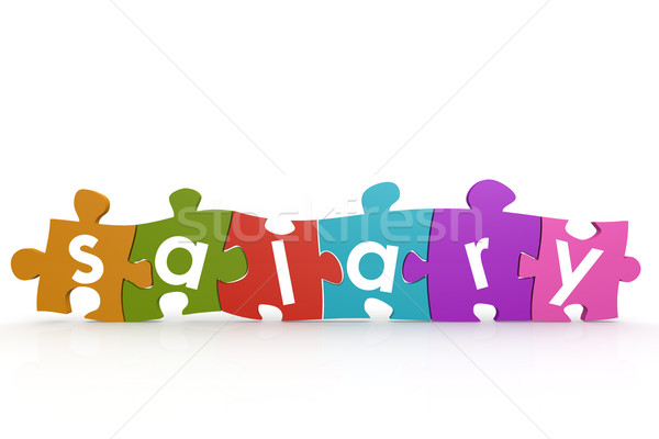 Colorful puzzle with salary word stock photo © Yann Song Tang