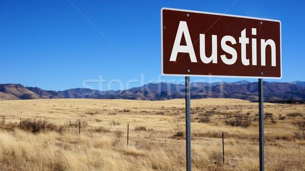 Austin senalización de la carretera cielo azul cielo carretera Foto stock © tang90246