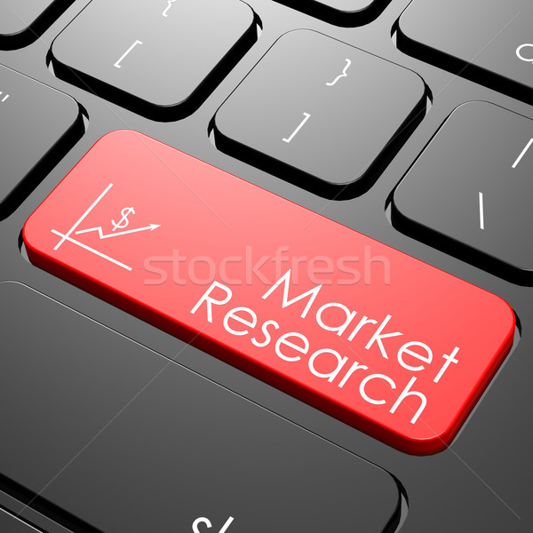 Market research keyboard Stock photo © tang90246