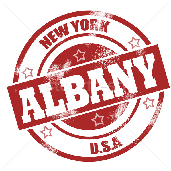 Albany stamp Stock photo © tang90246