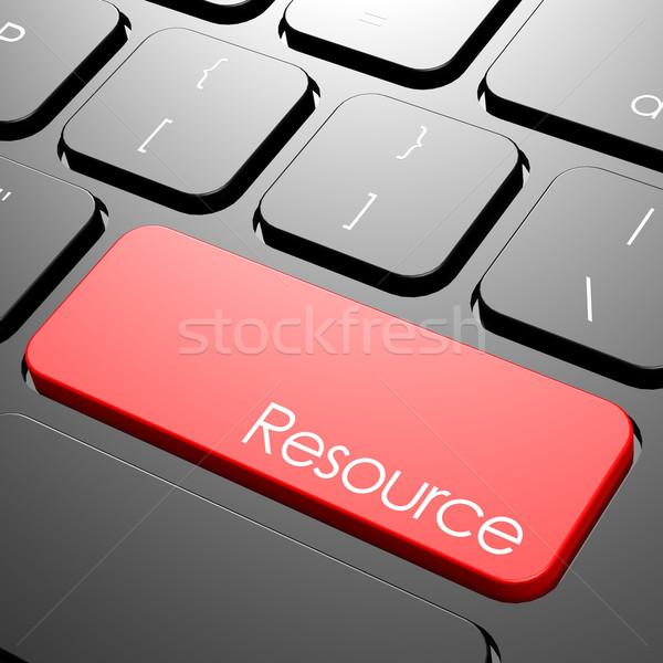 Recurso teclado computador trabalhar laptop educação Foto stock © tang90246