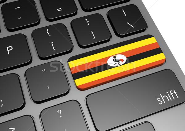 Uganda teclado imagen prestados utilizado Foto stock © tang90246