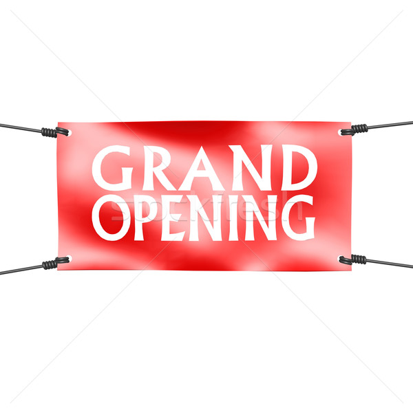 Banner grand opening with four ropes on the corner Stock photo © tang90246