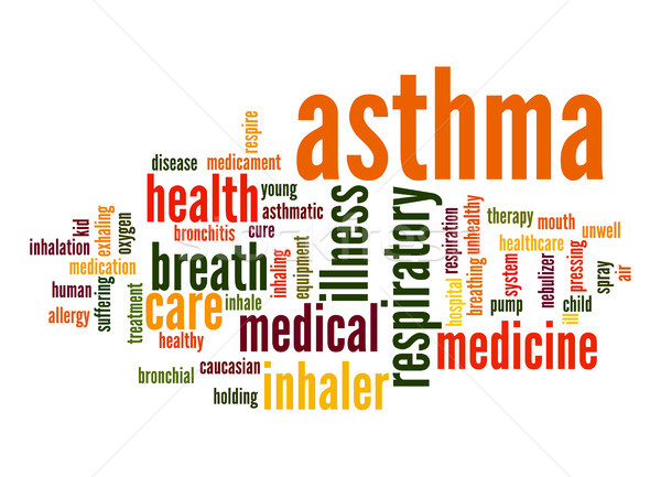 Asthma word cloud Stock photo © tang90246