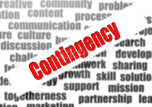 Contingency word cloud Stock photo © tang90246