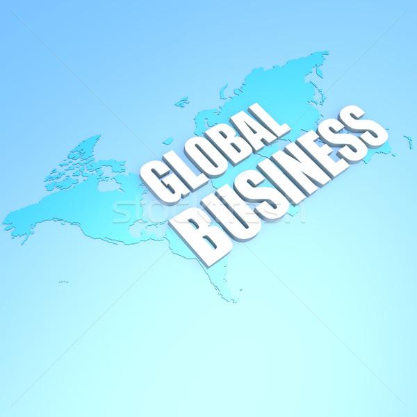 Global de negócios mapa do mundo globo abstrato mundo tecnologia Foto stock © tang90246