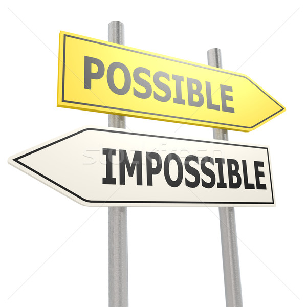 Possible impossible road sign Stock photo © tang90246