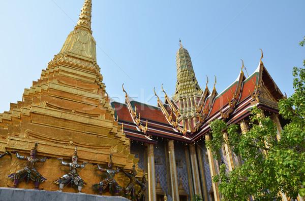 Dorado pagoda palacio Bangkok Tailandia viaje Foto stock © tang90246