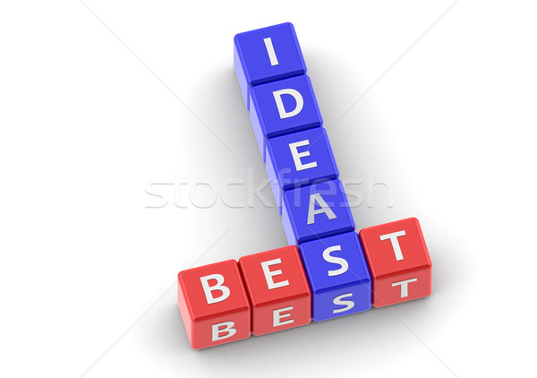 Buzzwords best ideas Stock photo © tang90246
