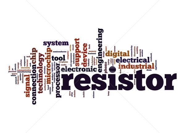 Resistor word cloud Stock photo © tang90246