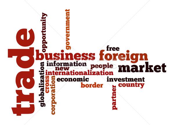 Ticaret kelime bulutu iş bilgi ülke ücretsiz Stok fotoğraf © tang90246