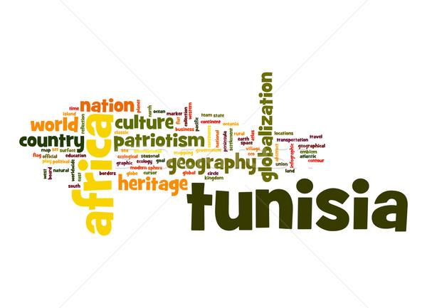 チュニジア 言葉の雲 ビジネス 世界 アフリカ 雲 ストックフォト © tang90246