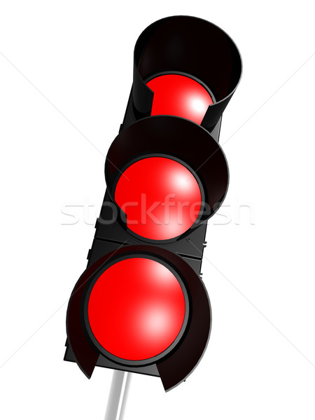 Trafik ışığı kırmızı yol ışık sokak arka plan Stok fotoğraf © tang90246