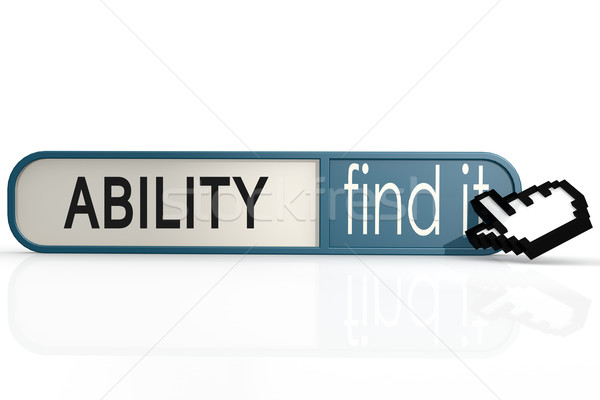 Ability word on the blue find it banner Stock photo © tang90246