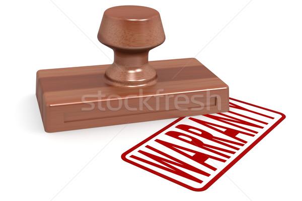 Stockfoto: Houten · stempel · Rood · tekst · afbeelding