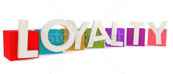 Colorful cubes with loyalty word Stock photo © tang90246