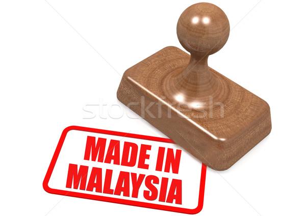 Malajzia bélyeg kép renderelt mű használt Stock fotó © tang90246