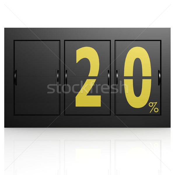 Airport display board 20 percent Stock photo © tang90246