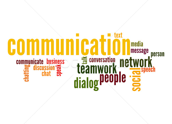 Communication word cloud Stock photo © tang90246