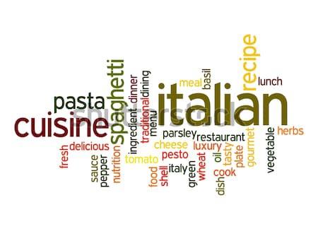 Italian Cuisine word cloud Stock photo © tang90246