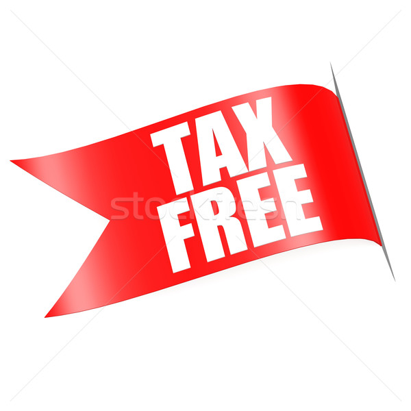 Tax free red label Stock photo © tang90246