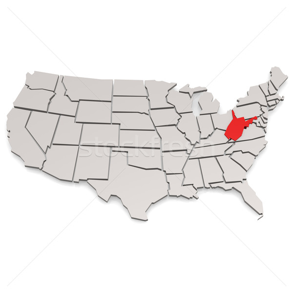 Nyugat-Virginia térkép kép renderelt mű használt Stock fotó © tang90246