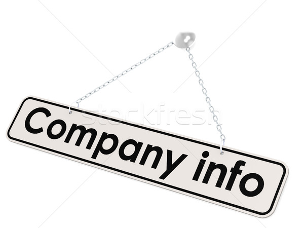 Company info banner Stock photo © tang90246