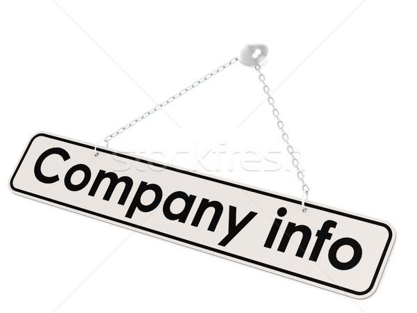 Firmy info banner obraz świadczonych Zdjęcia stock © tang90246