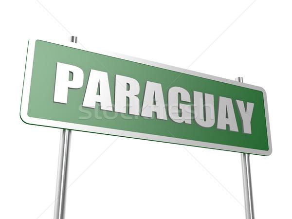 Парагвай изображение оказанный используемый графического дизайна Сток-фото © tang90246