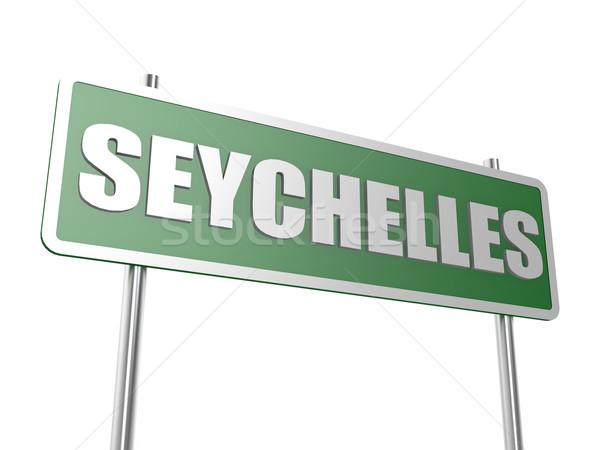 Seychelle-szigetek kép renderelt mű használt grafikai tervezés Stock fotó © tang90246