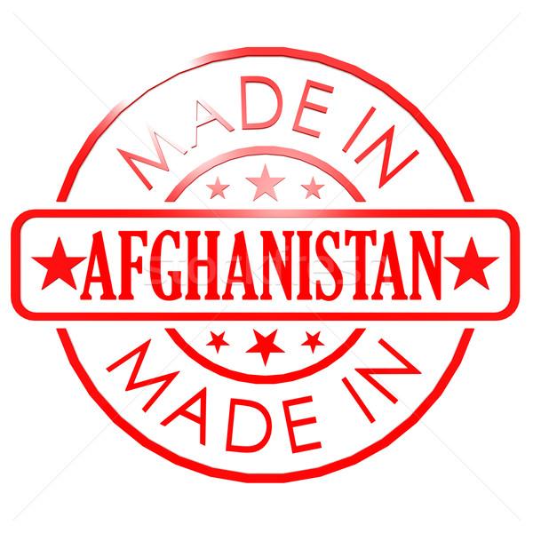 Afghanistan rot Siegel Bild gerendert Kunstwerk Stock foto © tang90246