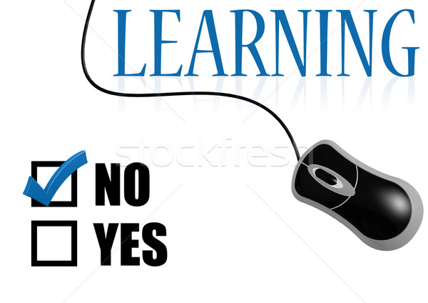 Learning with tick on no with mouse Stock photo © tang90246