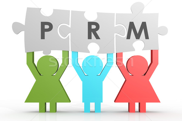 PRM - Partner Relationship Management puzzle in a line Stock photo © tang90246