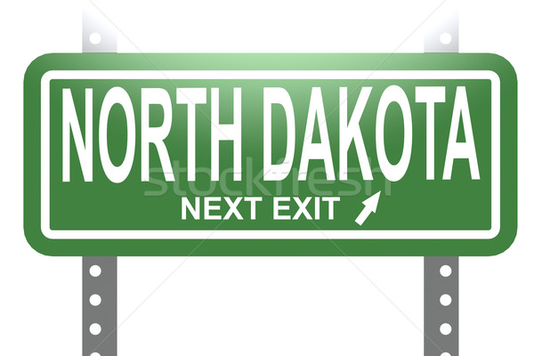 North Dakota green sign board isolated  Stock photo © tang90246