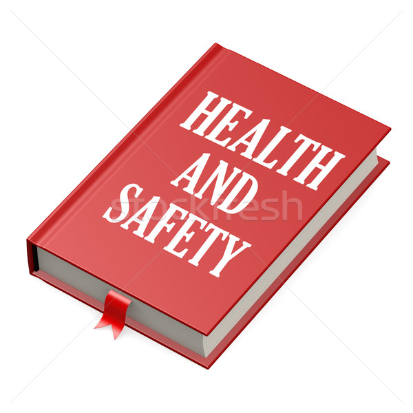 Book with a health and safety concept title Stock photo © tang90246