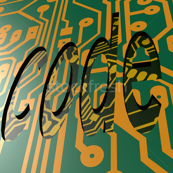 PCB and code word Stock photo © tang90246