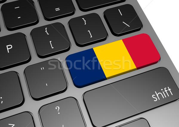 Chad teclado imagen prestados utilizado Foto stock © tang90246