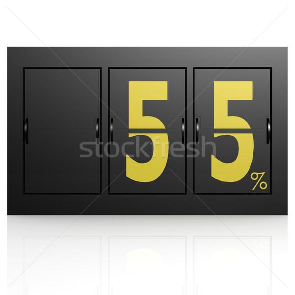Airport display board 55 percent Stock photo © tang90246